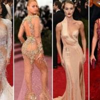 Em choque com os vestidos transparentes Met 2015