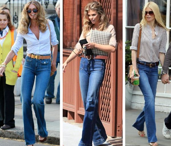 Jeans flare boho chic